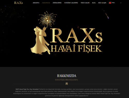 Rax Havai Fişek Web Site Tasarımı – Logo Tasarımı